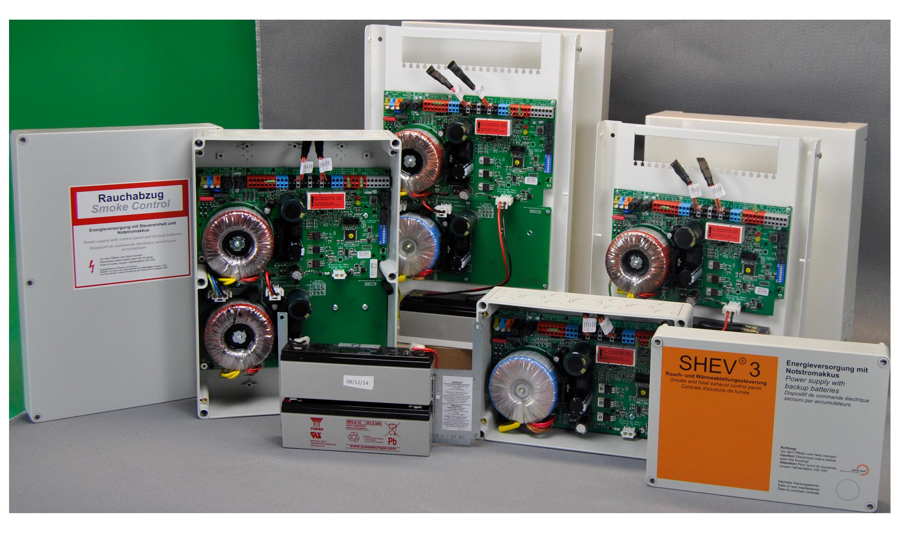 Kompaktzentrale SHEV® nach DIN ISO geprüft und zugelassen
