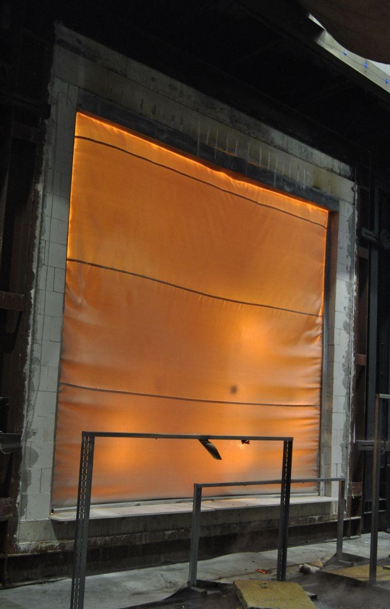 Prüfung Feuerschutzvorhang